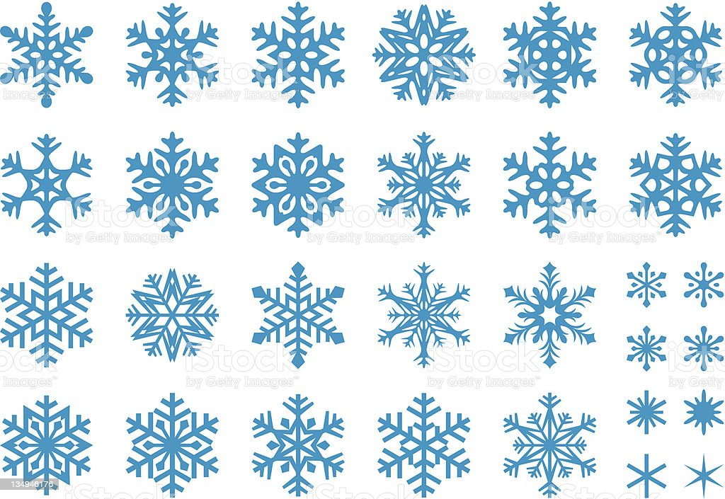 Vector Snowflakes Set vector art illustration