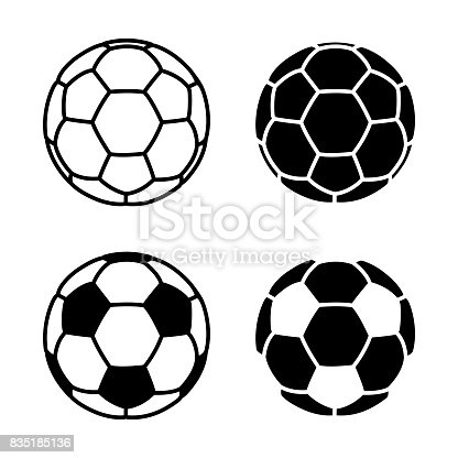 Soccer Ball. Eps10 vector illustration with layers (removeable). EPS and high resolution jpeg file included (300dpi).