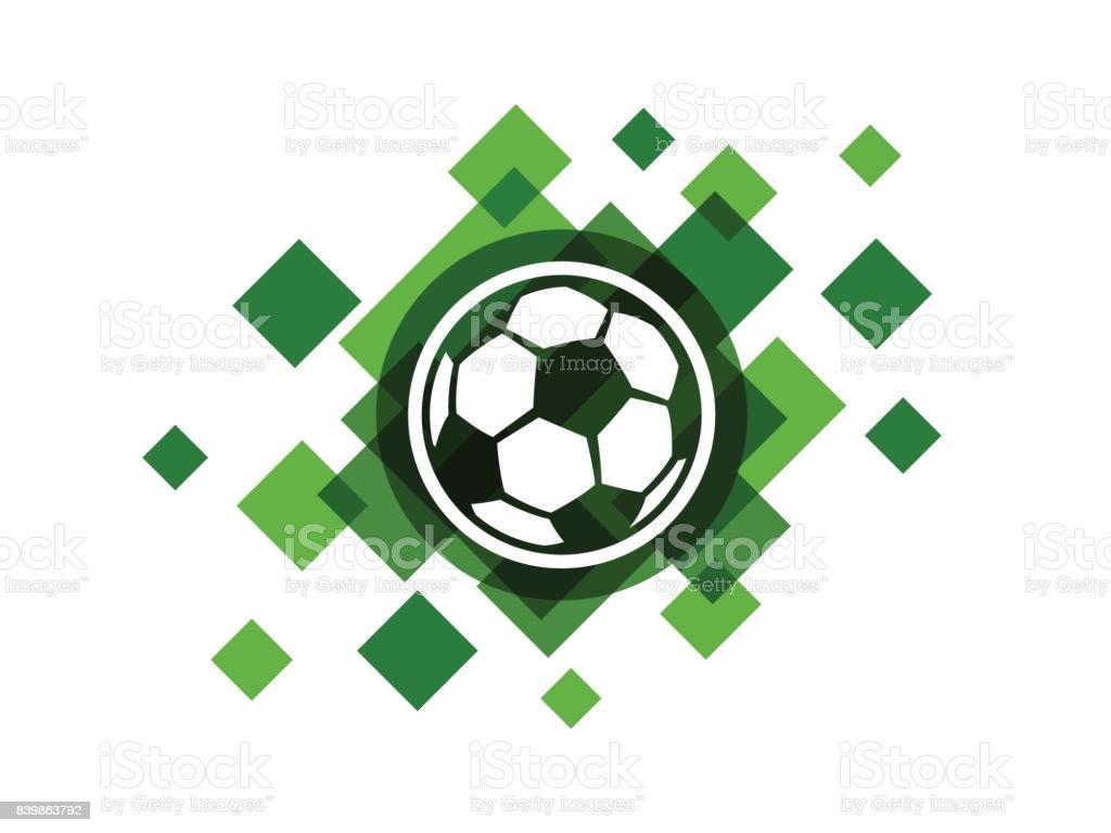 Vector soccer ball icon vector art illustration
