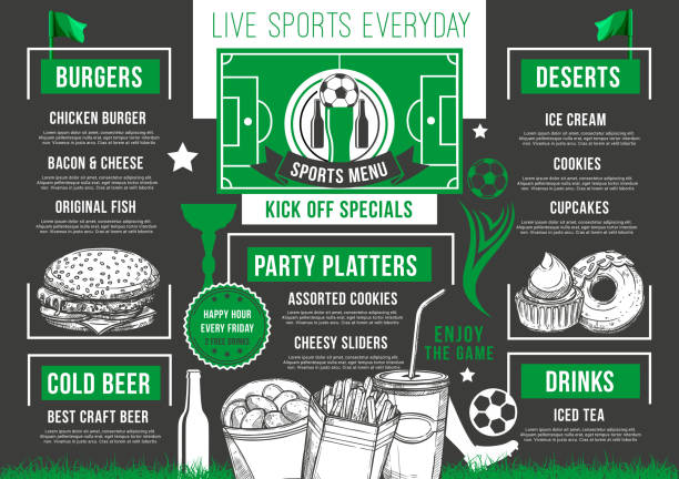 royalty free soccer game snacks clip art vector images