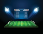 vector soccer field with scoreboard,vector