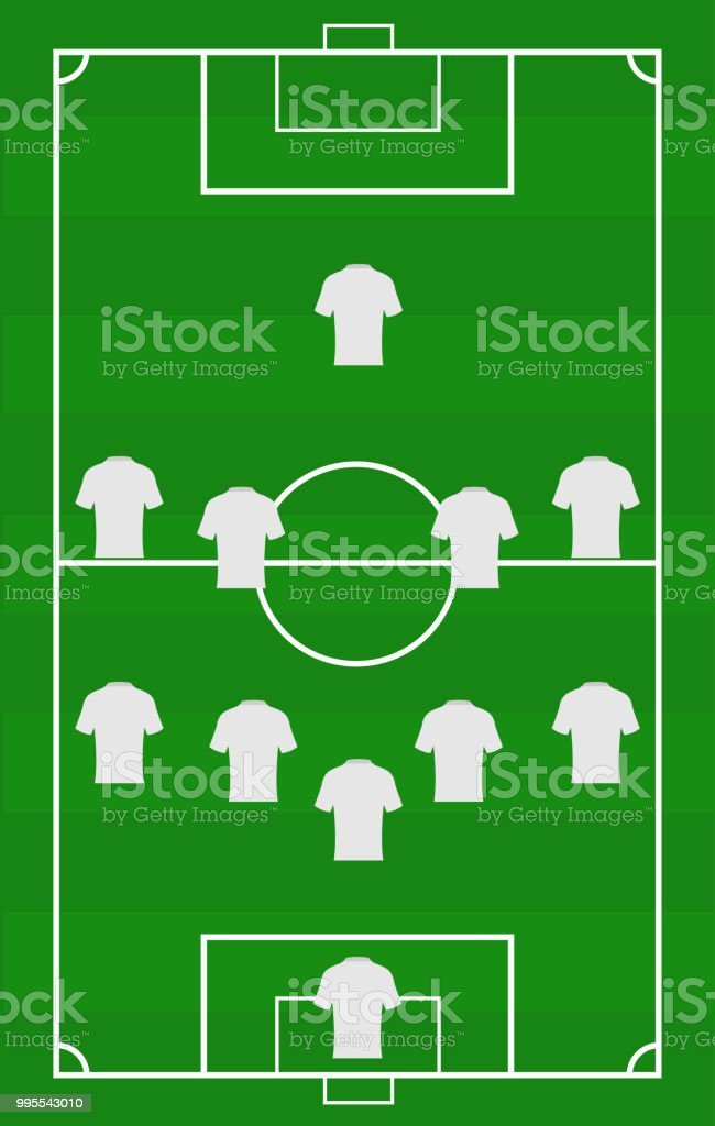 Vector soccer field with the arrangement of players in the vector soccer field with the arrangement of players in the gameposition title of football maxwellsz