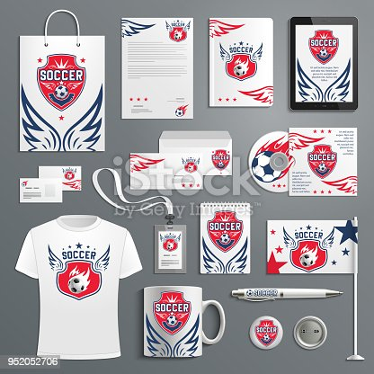 Vector soccer football club ector promo materials