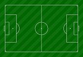 Vector soccer football field