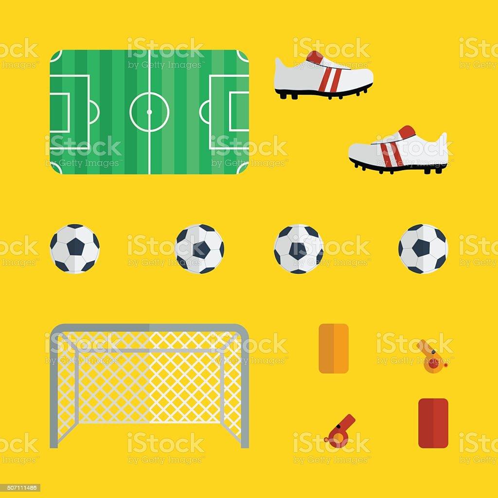 Vector soccer /  football  icon set vector art illustration