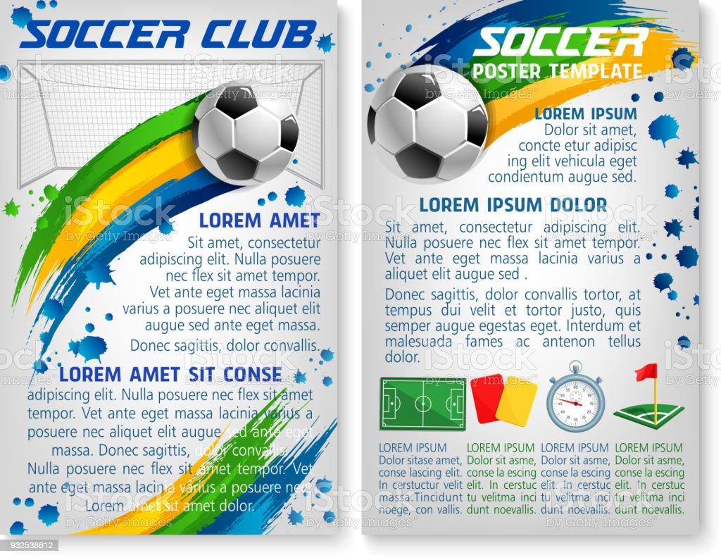 Vektor Fußball Team Club Fußball Plakat Vorlage Stock Vektor Art und ...
