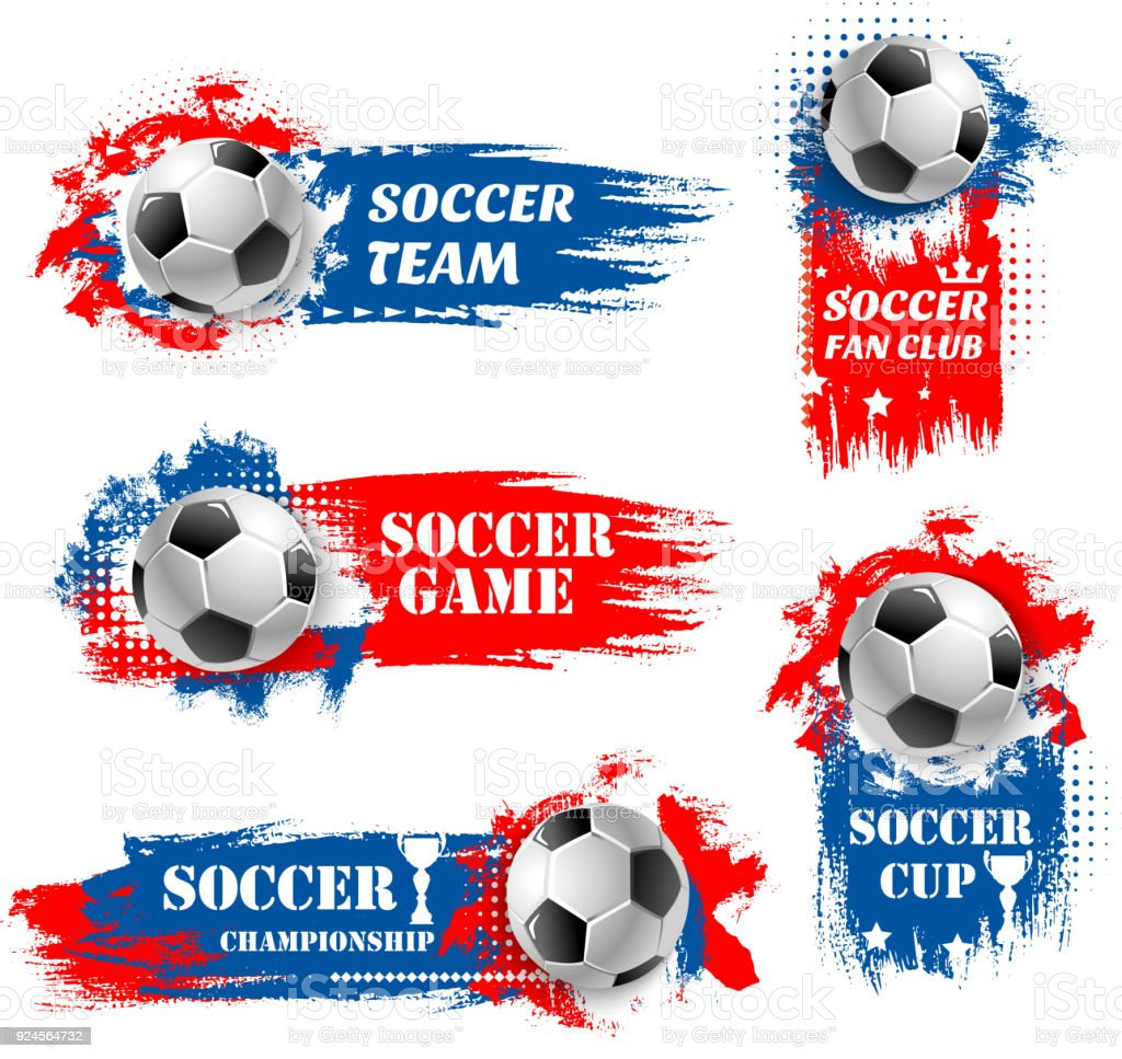 Vector soccer team football championship backdrops vector art illustration