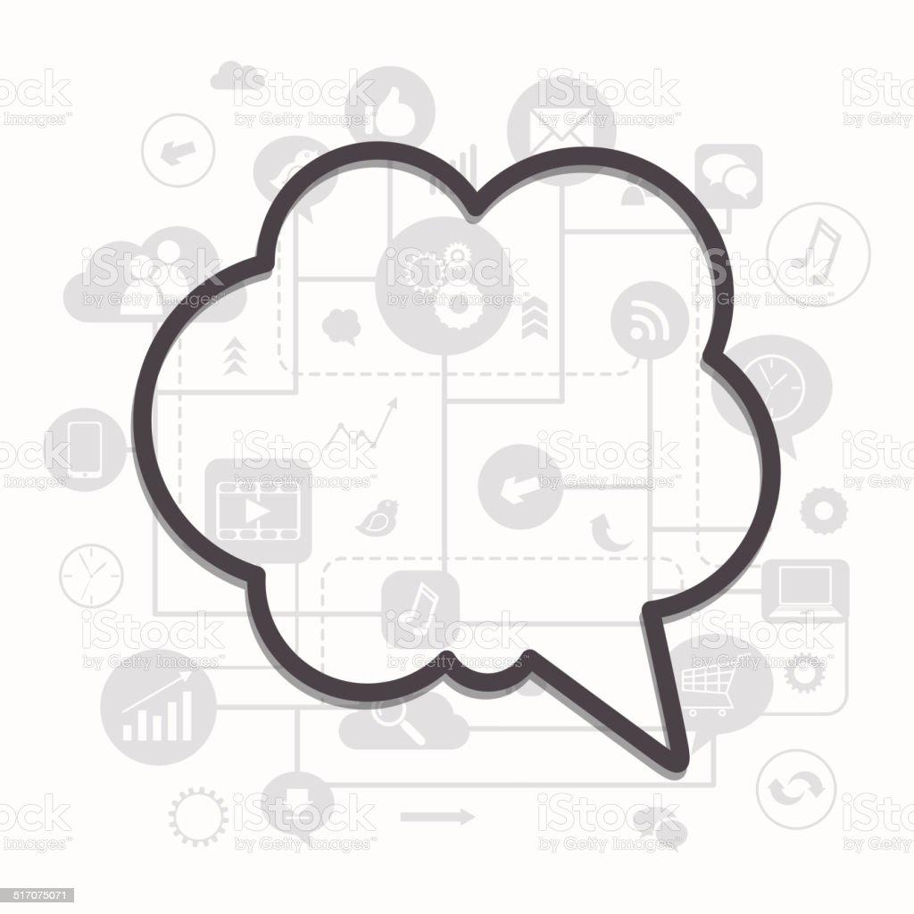 Vector Social Media Concept - Royalty-free Business stock vector