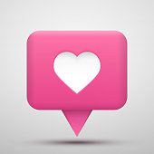 Vector social network Rating. Followers and like icon. Vector illustration.