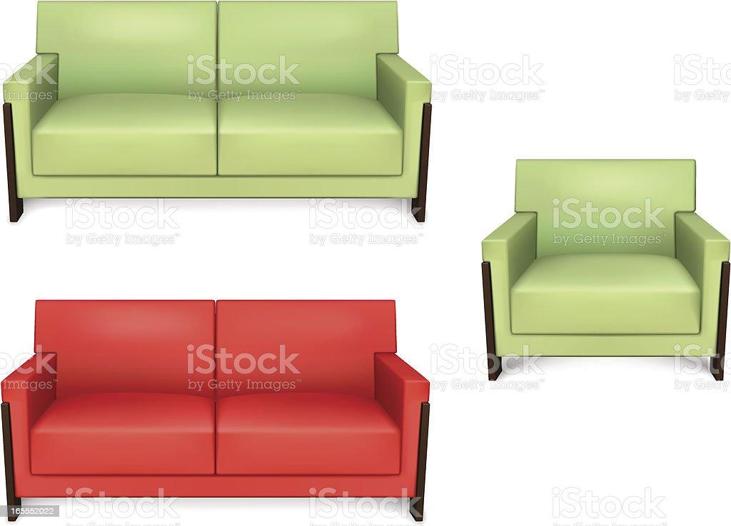 Vector Sofa royalty-free stock vector art