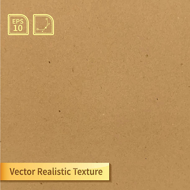 stockillustraties, clipart, cartoons en iconen met vector soft clean cardboard texture. photo texture for your design - karton