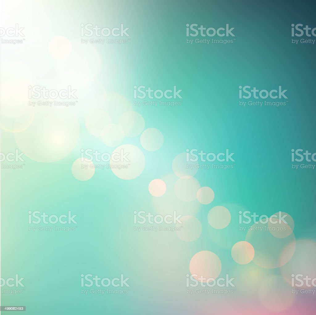 Vector Soft colored abstract summer light  background for design vector art illustration