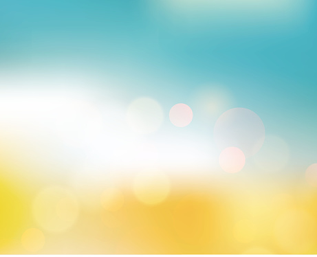 Vector Soft colored abstract summer light  background for design with summer text