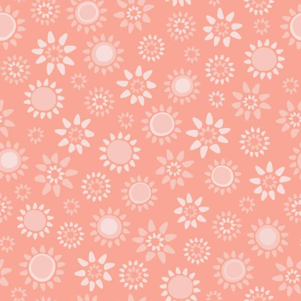 Vecteur doux corail floral sans soudure répétition fond de motif. - Illustration vectorielle