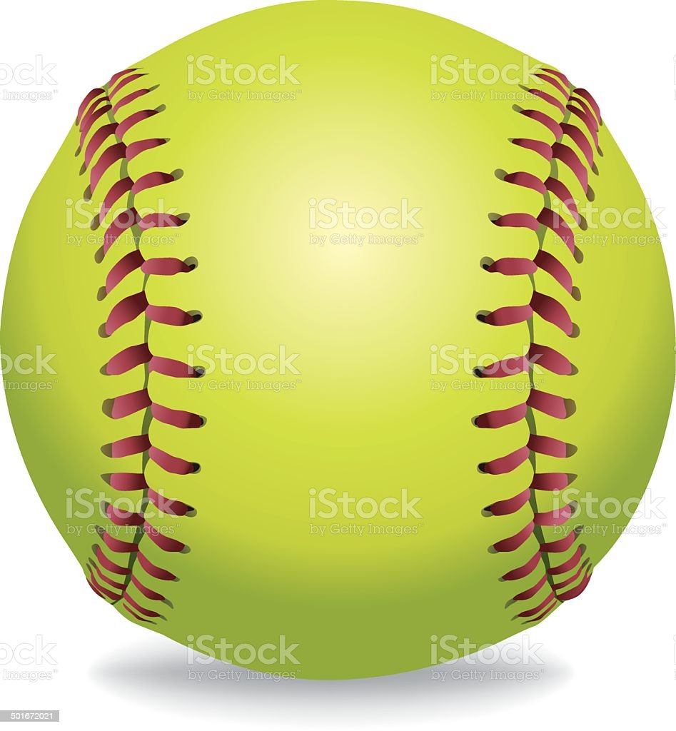 vector softball isolated on white illustration stock vector art rh istockphoto com softball vector artwork softball vector art free