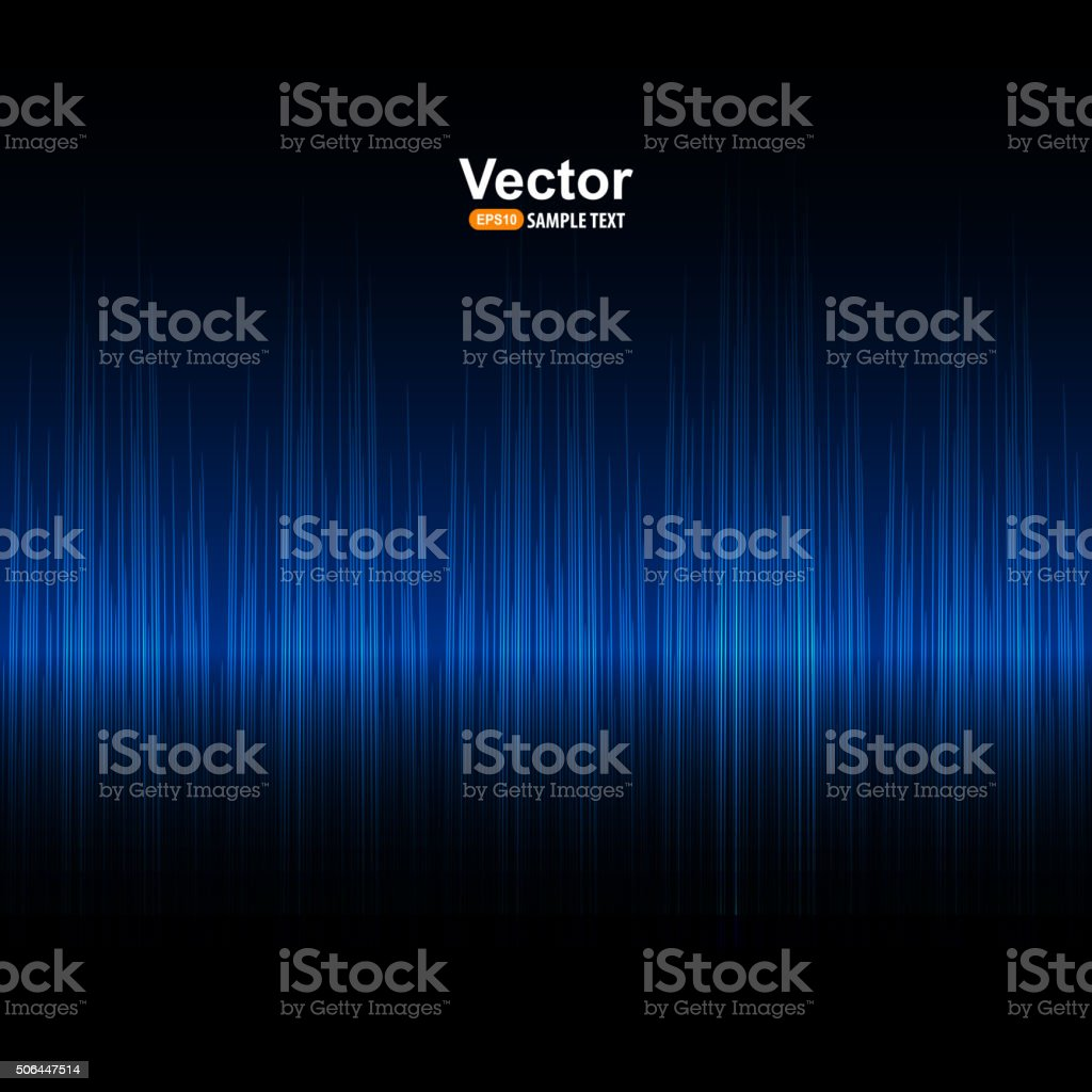 Vector sound blue equalizer vector art illustration