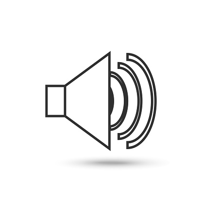 Vector sound icon. Music, volume, audio symbol. For web, design, advertising banner