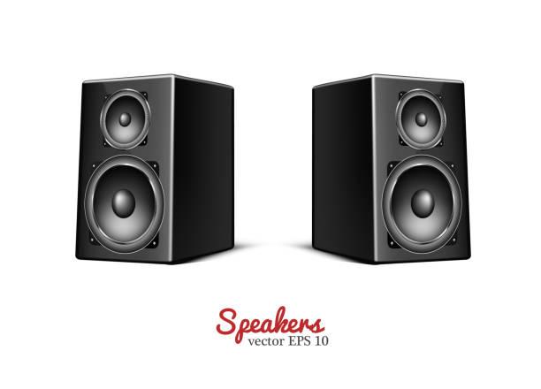 Vector sound speaker, loudspeaker icon vector art illustration