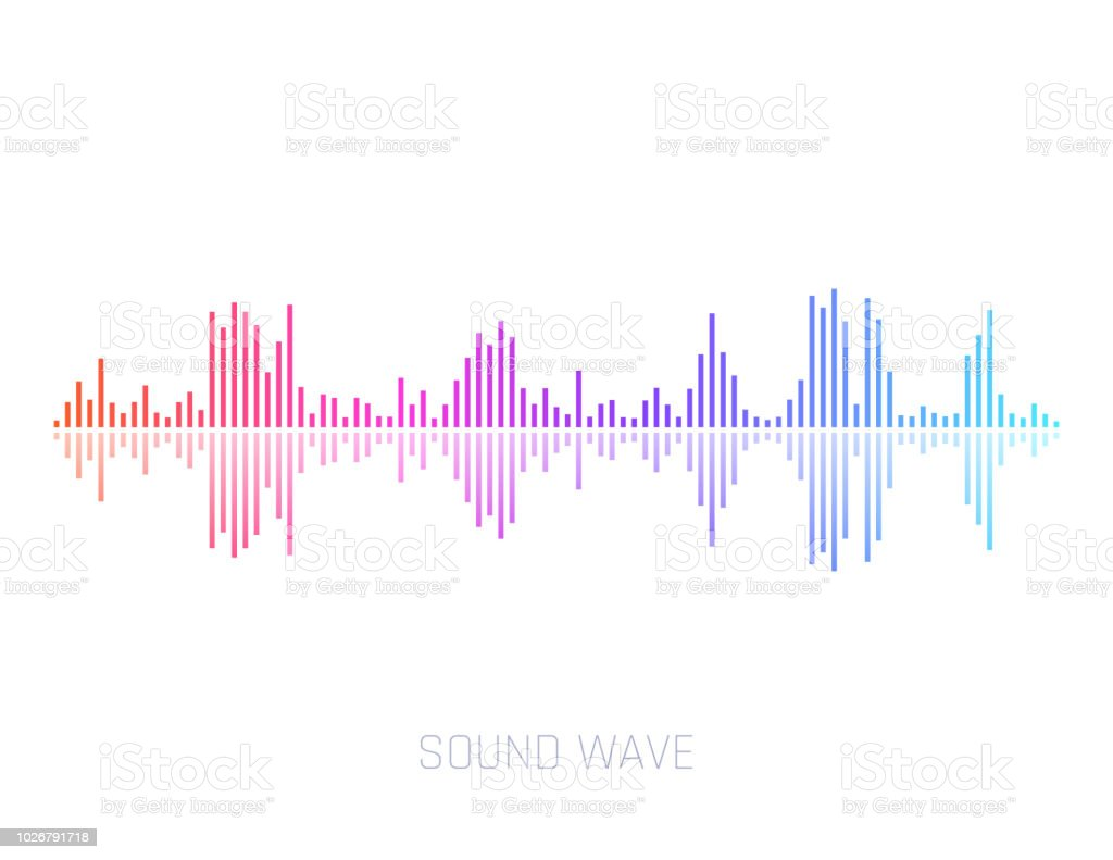 Vector Sound Wave. Colorful sound waves for party, DJ, pub, clubs, discos. Audio equalizer technology. Vector illustration vector art illustration