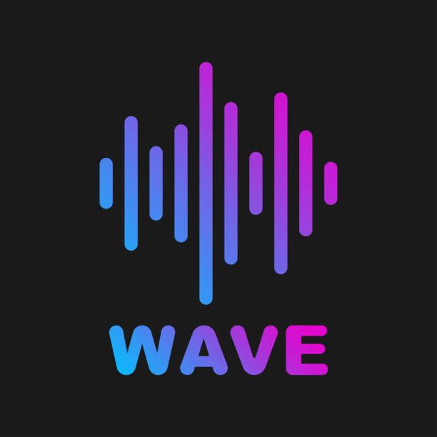 vektor schallwelle. logo von klang und musik welle. eps 10 - sound wave stock-grafiken, -clipart, -cartoons und -symbole
