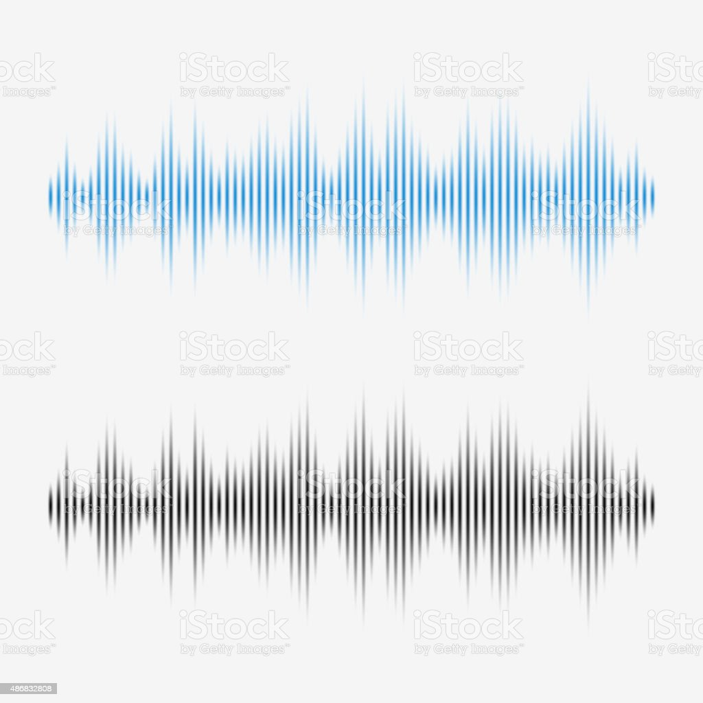 Vector sound waves. Music Digital Equalizer. vector art illustration