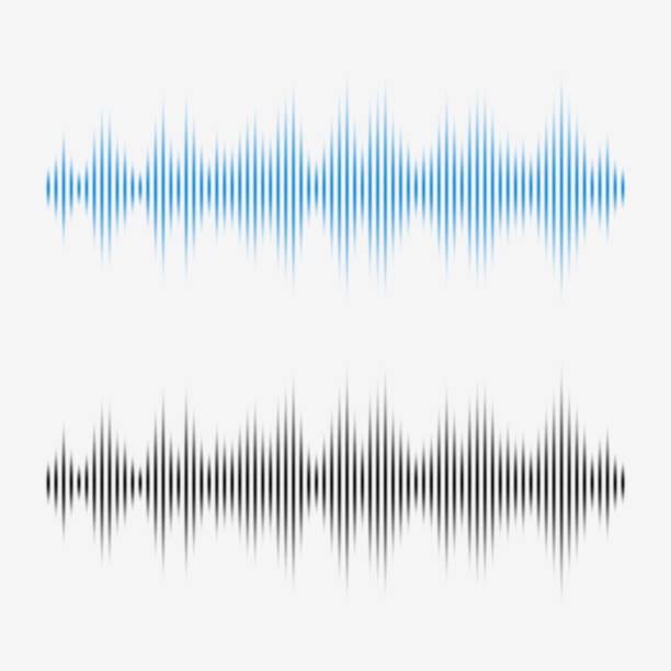 Vector sound waves. Music Digital Equalizer. vector art illustration