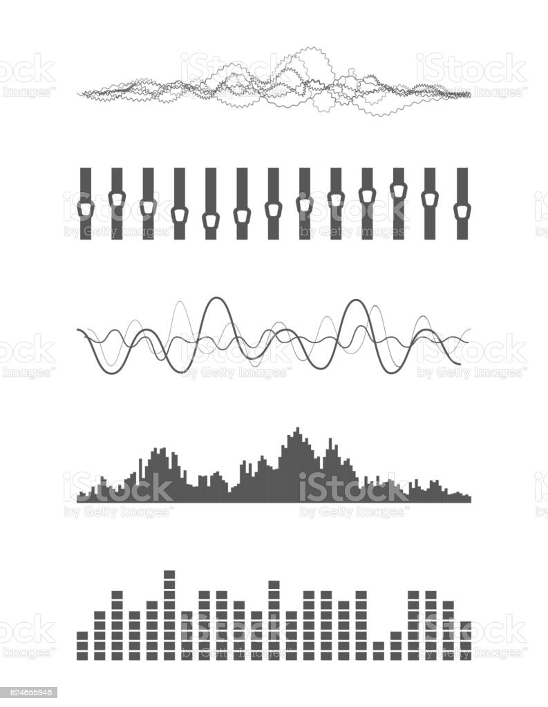 Vector Sound Waves Stock Vector Art & More Images of