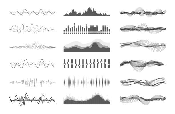 vektor-wellen  - sound wave stock-grafiken, -clipart, -cartoons und -symbole