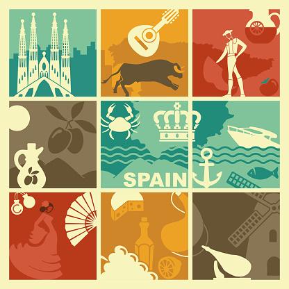Vector Spain background