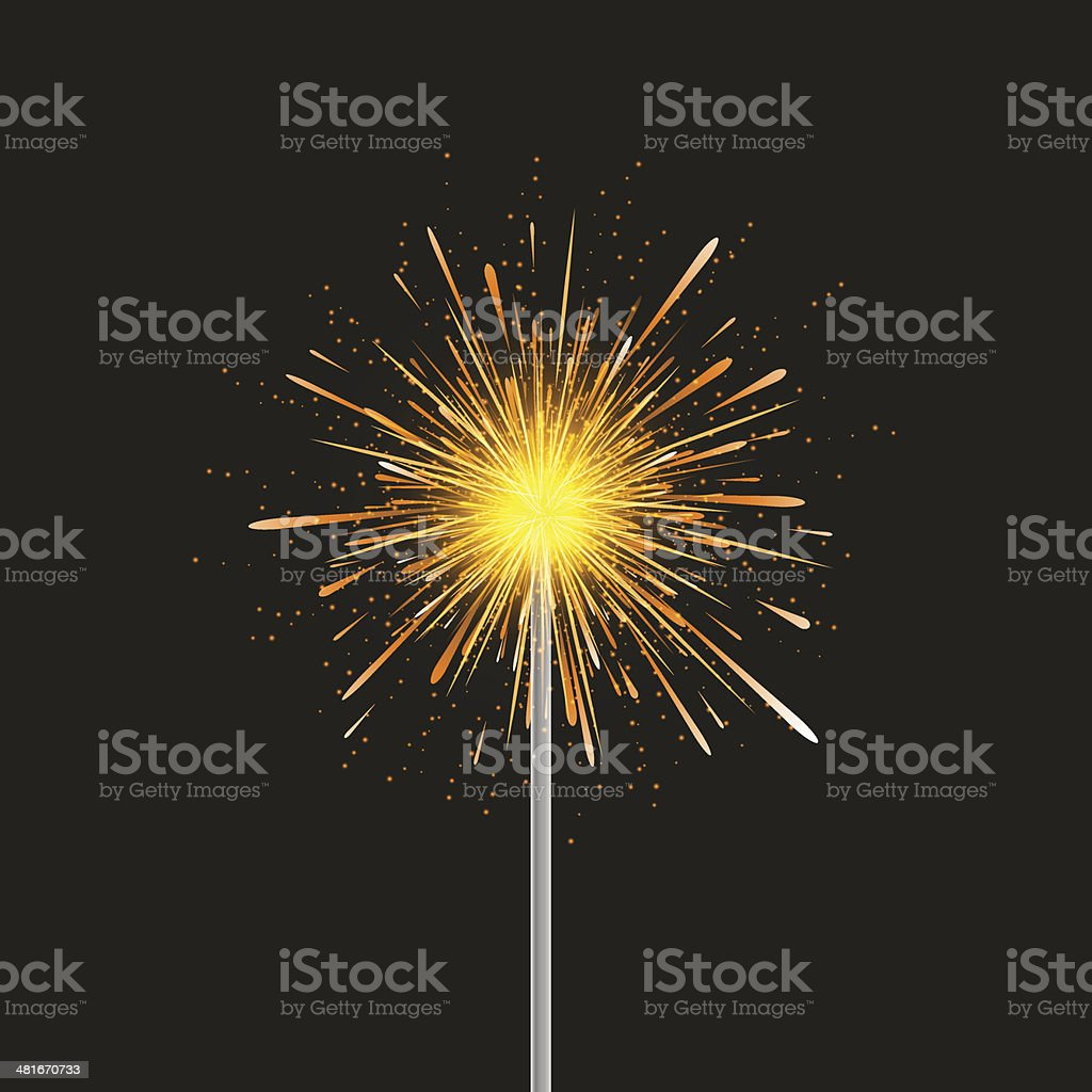 Vector sparkler modern background. Eps 10 vector art illustration