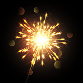Vector illustration of sparkler.