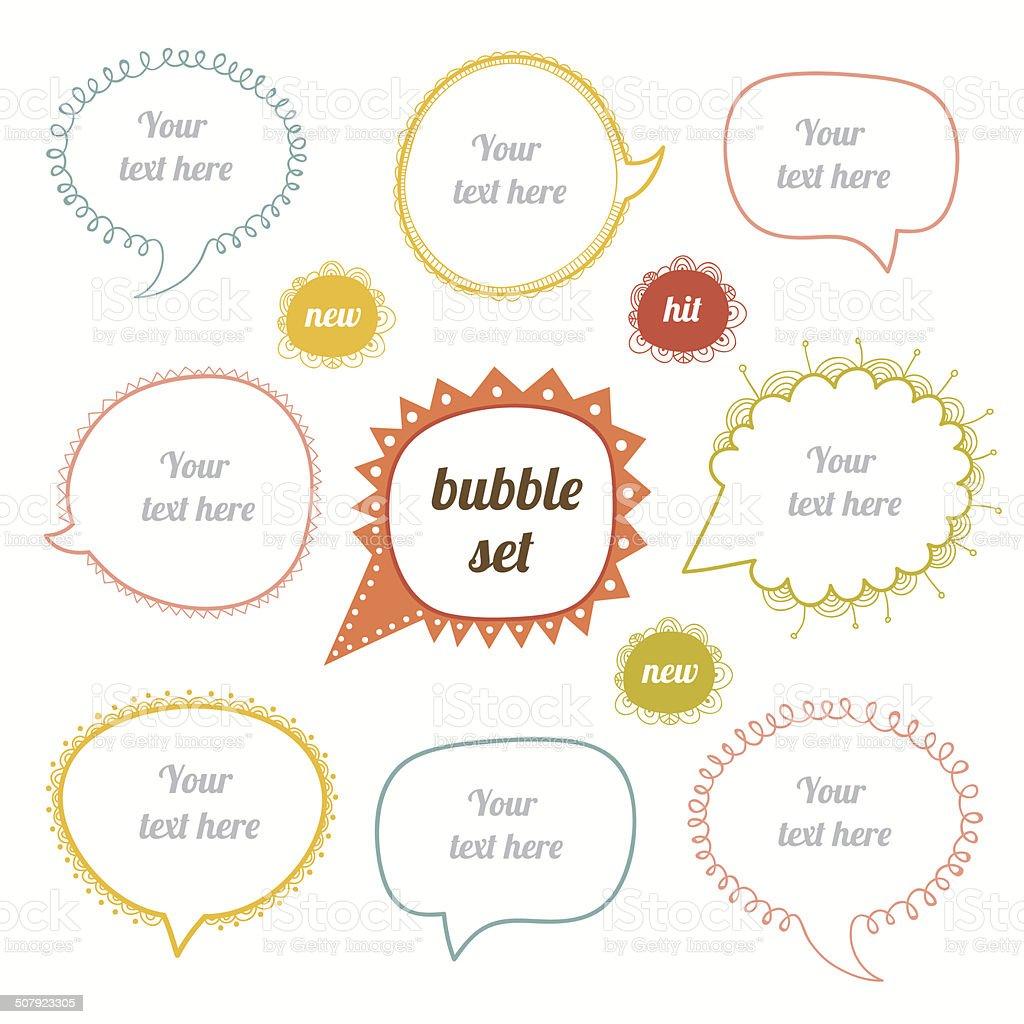 Vector Speak Bubbles set vector art illustration
