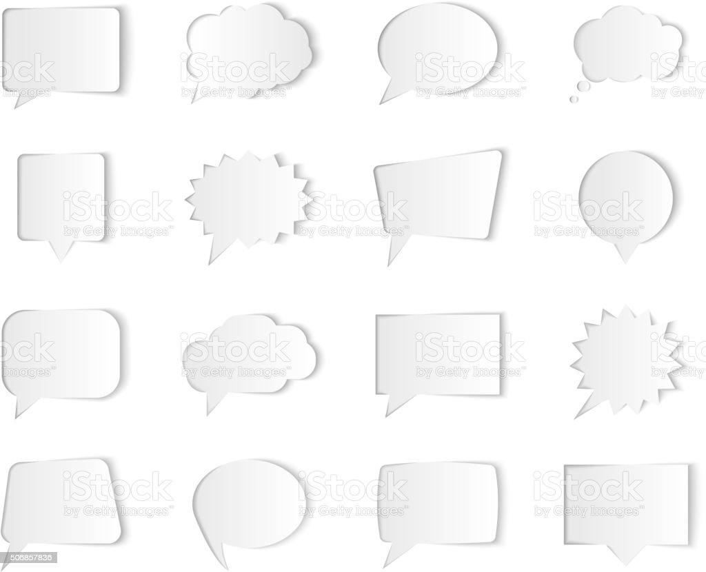 Vektor-Rede-Blasen isoliert auf Weißer Hintergrund. Abbildung für Präsentationen – Vektorgrafik