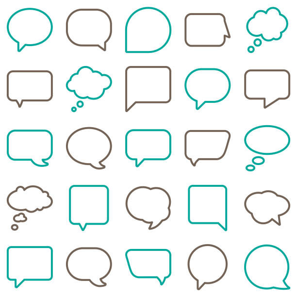 Vector Speech Bubbles Line Color Vector File of Vector Speech Bubbles Line Color related vector icons for your design or application. Raw style. Files included: vector EPS, JPG, PNG. See more in this series. speech bubble stock illustrations