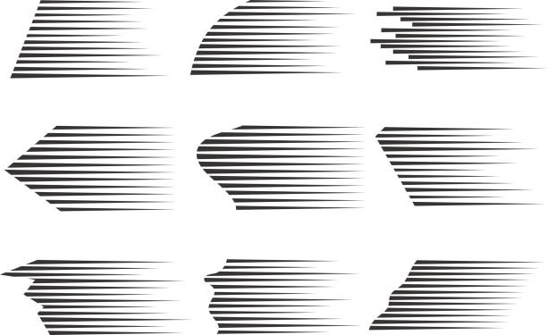 vector speed lines. - in a row stock illustrations