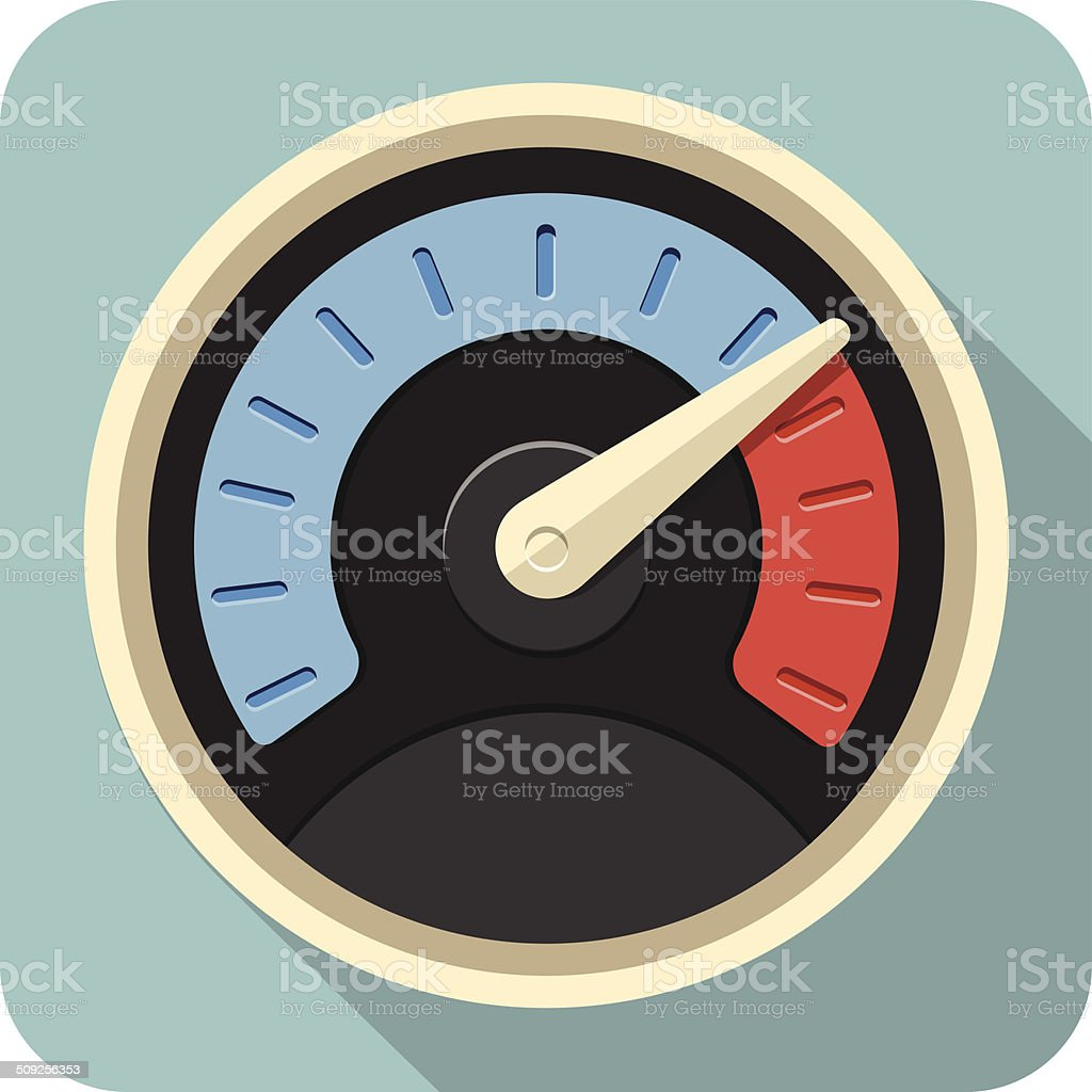 Vector Speedometer Flat Icon vector art illustration