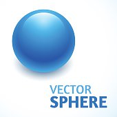 vector sphere abstract with text, isolated object