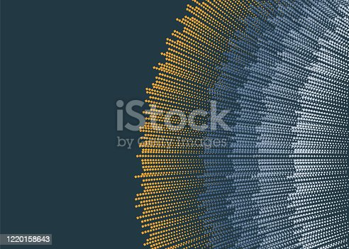 Expansion of life. Vector sphere explosion background.