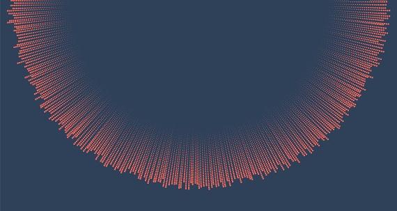 Vector sphere explosion background
