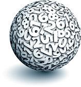 Vector sphere of numbers.