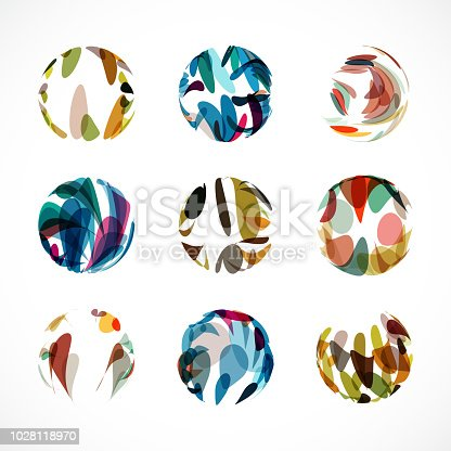 Vector sphere pattern symbol collection