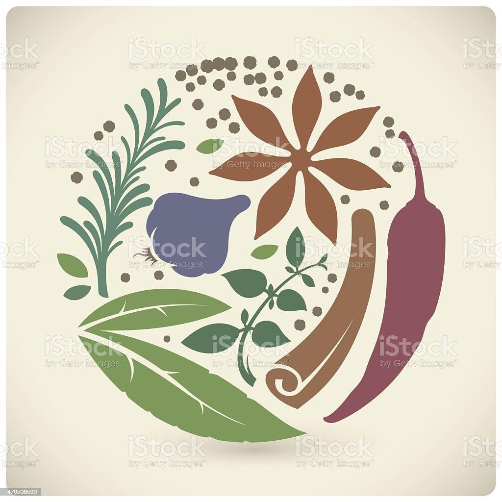 Vector spices sign vector art illustration