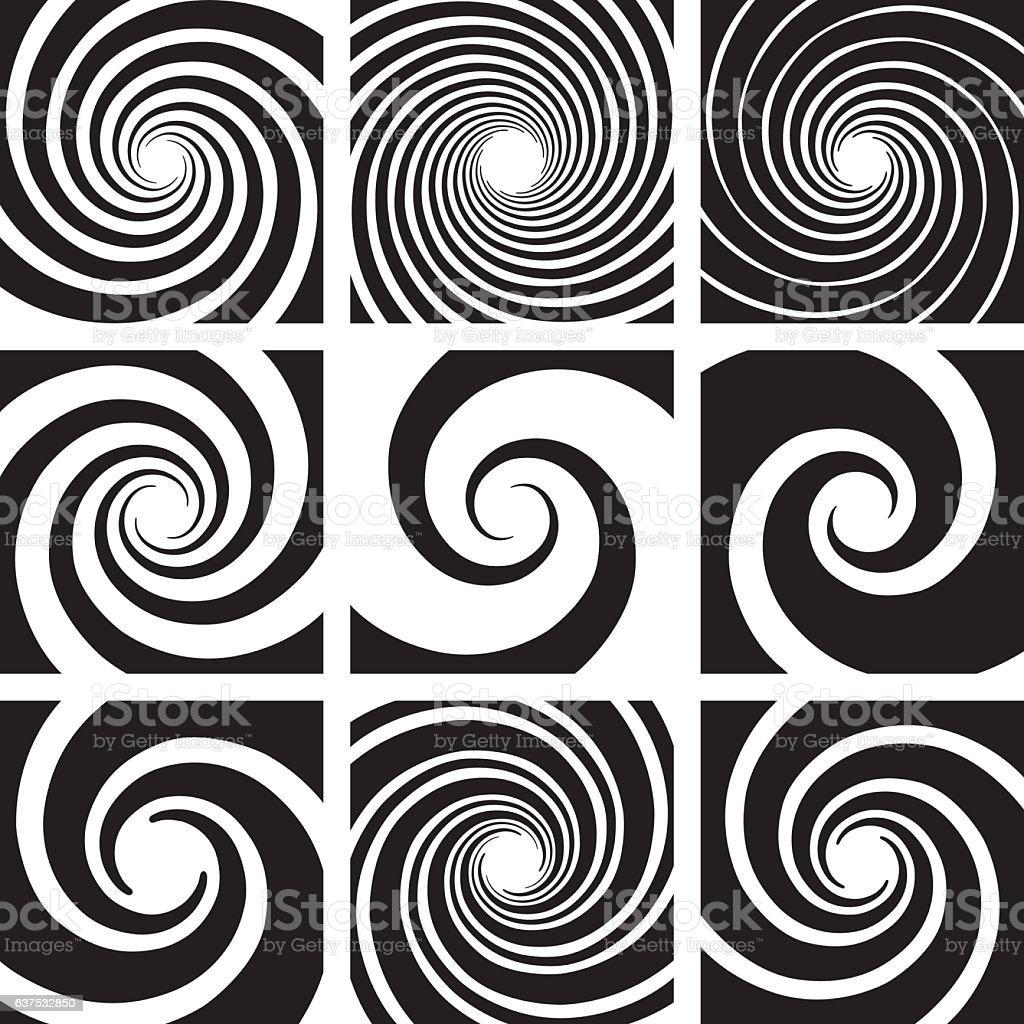 Vector Spiral and Swirl Collection - ilustração de arte em vetor