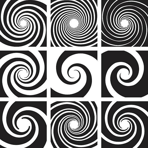 ilustrações, clipart, desenhos animados e ícones de vector spiral and swirl collection - fontes de tatuagem