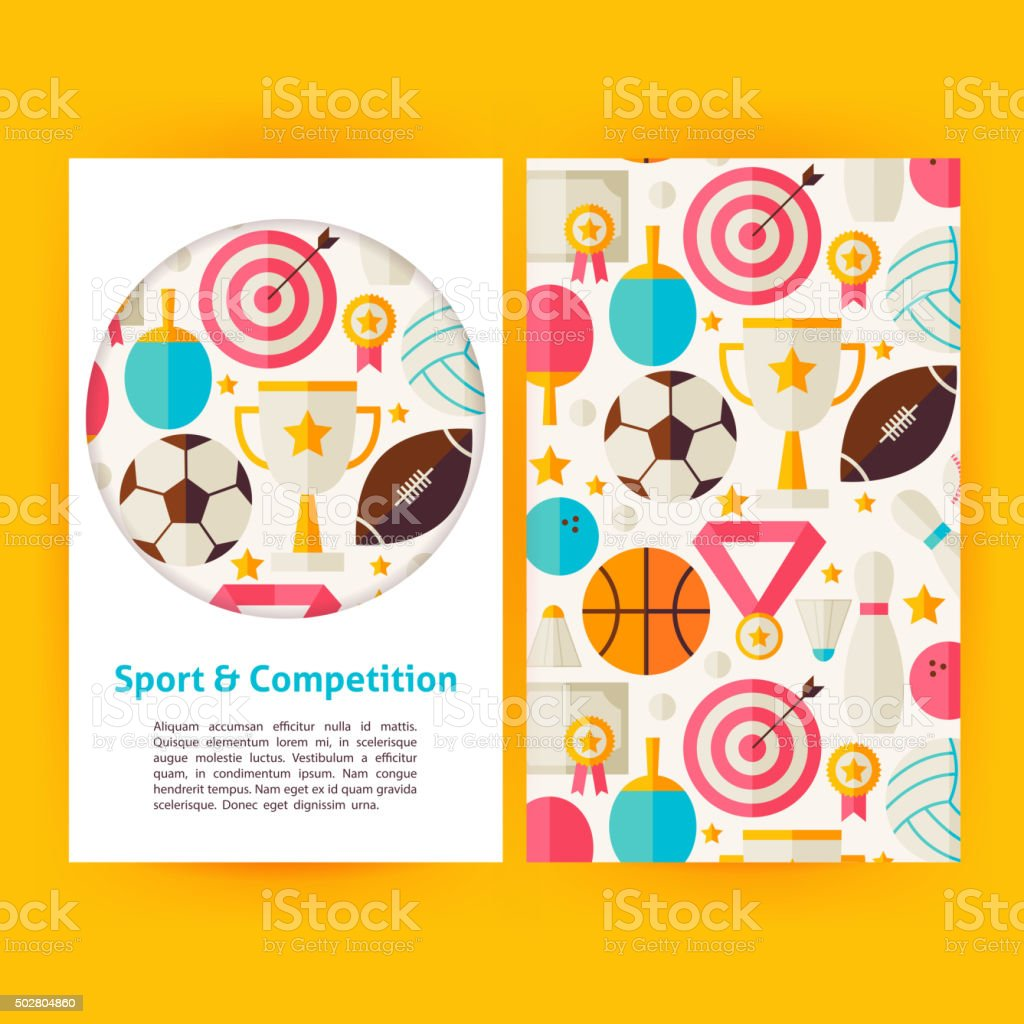 Vector Sport and Competition Banners Set Template vector art illustration