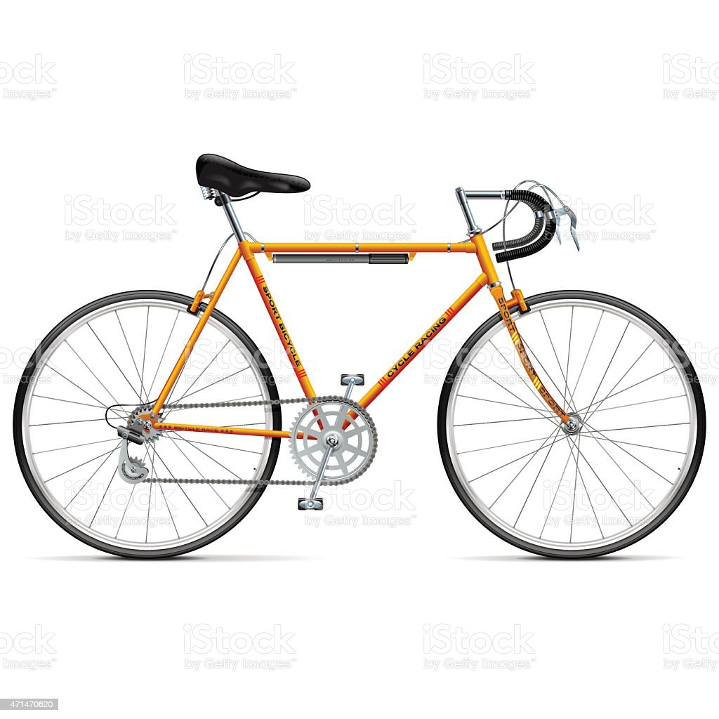 Vector Sport Bicycle vector art illustration