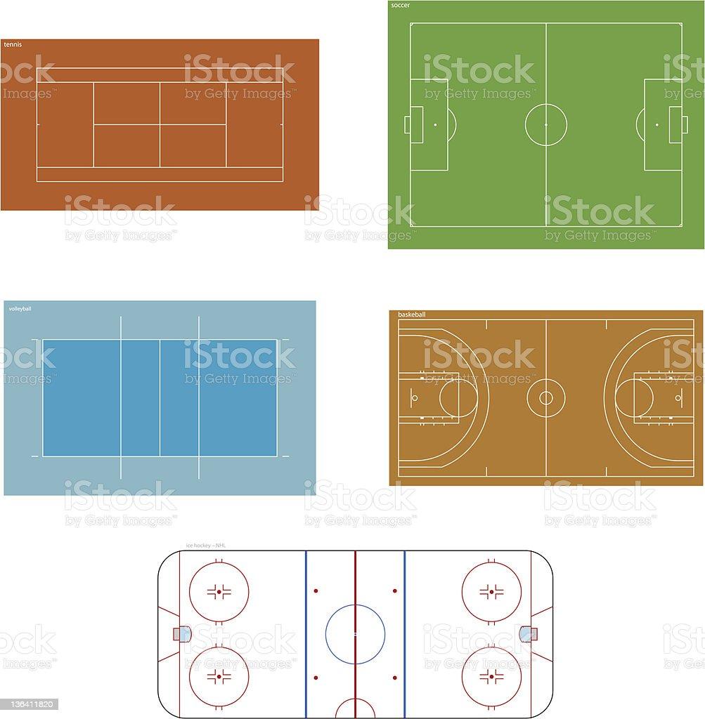 Vector sportgrounds vector art illustration