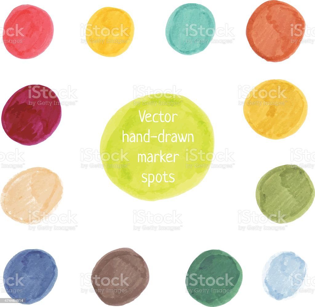 Vector spot banners vector art illustration