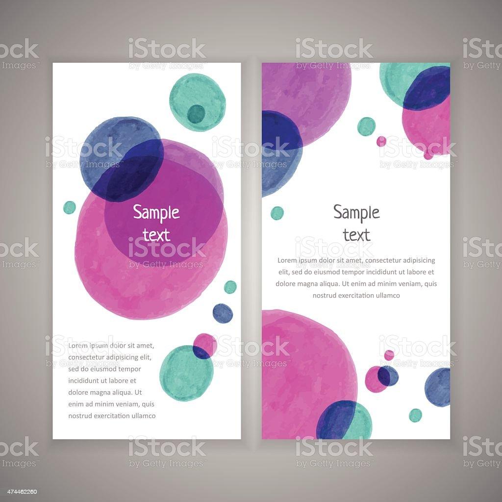 Vector spot templates vector art illustration