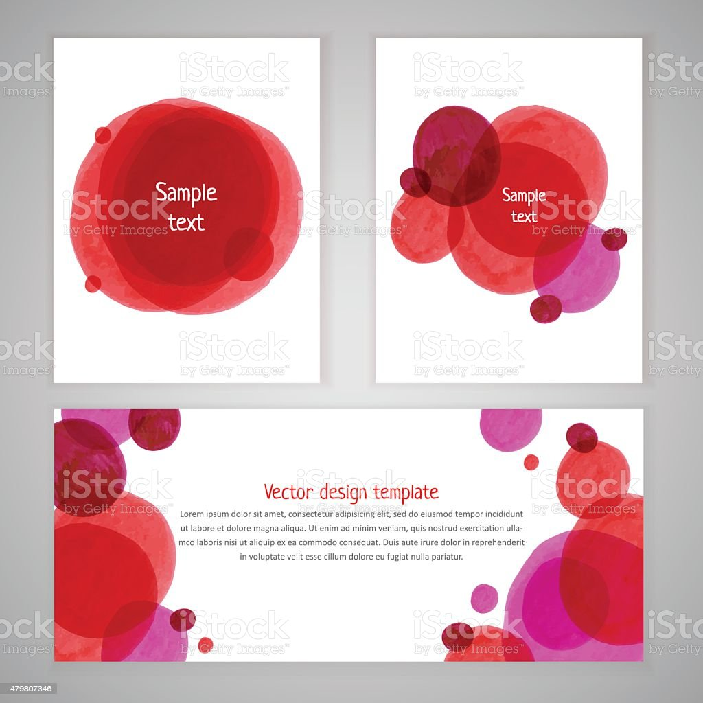 Vector spot templates vector art illustration